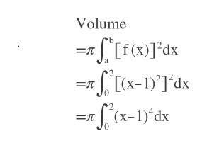 Volume SIf()Fdx = [(x-1)]'dx S(x-1)'dx