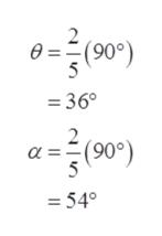 2 ө (90) =36 2 а 5 (90°) =54