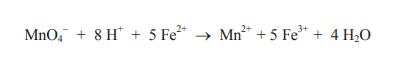 5 Fe2 MnO48 H Mn25 Fe 4 H2O