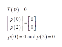 T(p) 0 P(0)]_[O P(2)0 P(0) 0 andp(2) = 0