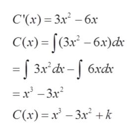 С() %— Зл3 — бх C() - (3х* - бх)dr Зл* dx - | 6xd — — Зx? С() %3 х - За? +k
