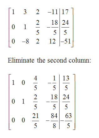 2 -1117 1 3 18 24 2 1 5 0 5 5 12 51 0 -8 2 Eliminate the second column: 113 4 1 0 5 5 5 18 24 2 0 1 5 5 5 21 0 0 5 84 63 8 5 의n