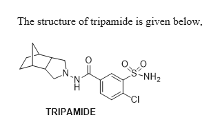 The structure of tripamide is given below -NH2 N CI TRIPAMIDE