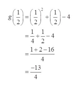 -4 2 g 1 1 =-+=-4 4 2 1 2 16 4 -13 4