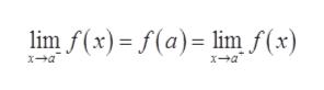 lim f(x) f(a) linm f(x) xa