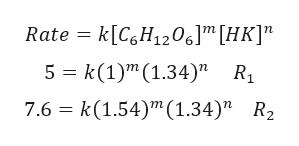 """- k[CgH1206[HK] 5 k(1)m(1.34)"""" R 7.6 k(1.54)"""" (1.34)"""" R2 Rate"""
