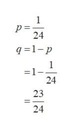 1 24 q 1-p 1 =1- 24 23 24