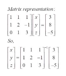 Matrix representation: | 1 2 -1y 8 01 3 So ELE S789 1 3 1 2-1 y 1 3