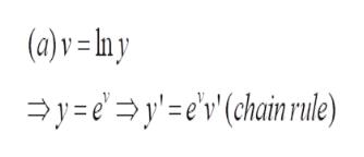 (a)v =lny yye(chainrule)