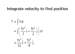 Integrate velocity to find position 6