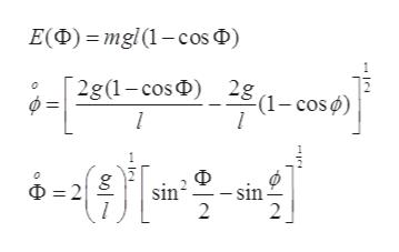 E(D)mgl(1-cos D) 2g(1-cosD 281-cos) l 마을 빠를을 D2 sin - sin 2 L |