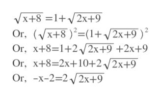 Vx+8 12x+9 Or, +8)(1+2x+9 Or, X+8 1+22x+9 +2x+9 Or, X+8 2x+10+2/2x+9 Or, -x-2-2V2X+9 2