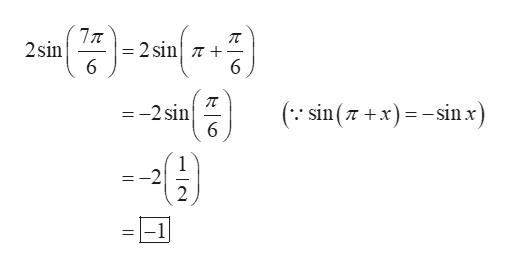 77T 2sin 2 sin n + 6 ( sin(xin x) =-2 sin 6 1 -2 2