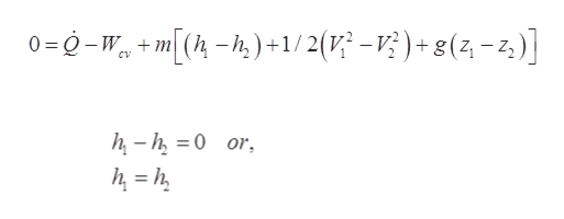 0=0-W+m[(-)+1/2(-V?)+ g(2 -2) h-h0 or