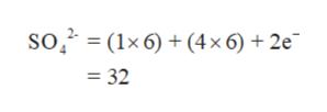 So2 (1x6)(4x 6) + 2e =32