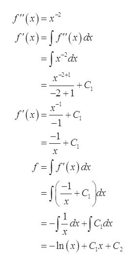 """""""(x) '(x)()d -xdx +C -2 1 f(x) C -1 -1 +C x f fr)dx -1 +C dr x -dc dx+ --In (x)+Cx +C"""