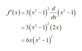 d f(x)=3(x -1)(-1) =3(x2 -1) (2x) 6x(x-1) dx