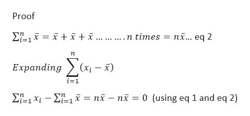 Proof ni... eq 2 .n times i-1 n Еxpanding (Xx) i-1 71X i = nï - ni = 0 (using eq 1 and eq 2) _ i=1 i=1