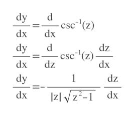 dy csc (z) dx dx dy dz csc (z) dx dx dz 1 dy dz Izlz-1 dx dx
