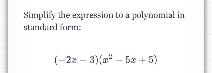 answered simplify the expression to a polynomial…  bartleby