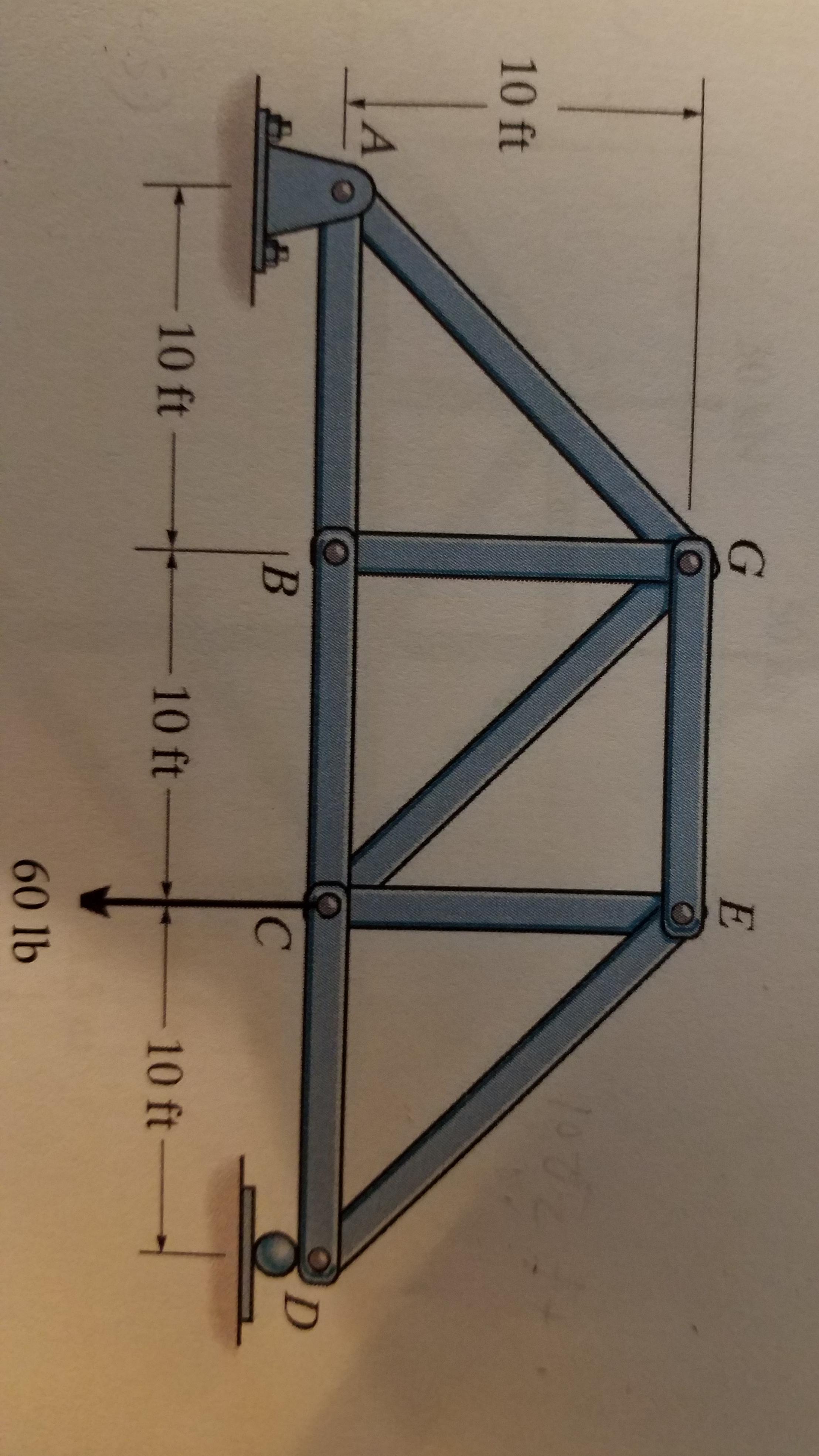 G E 10 ft В - 10 ft- - 10 ft- - 10 ft - 60 lb