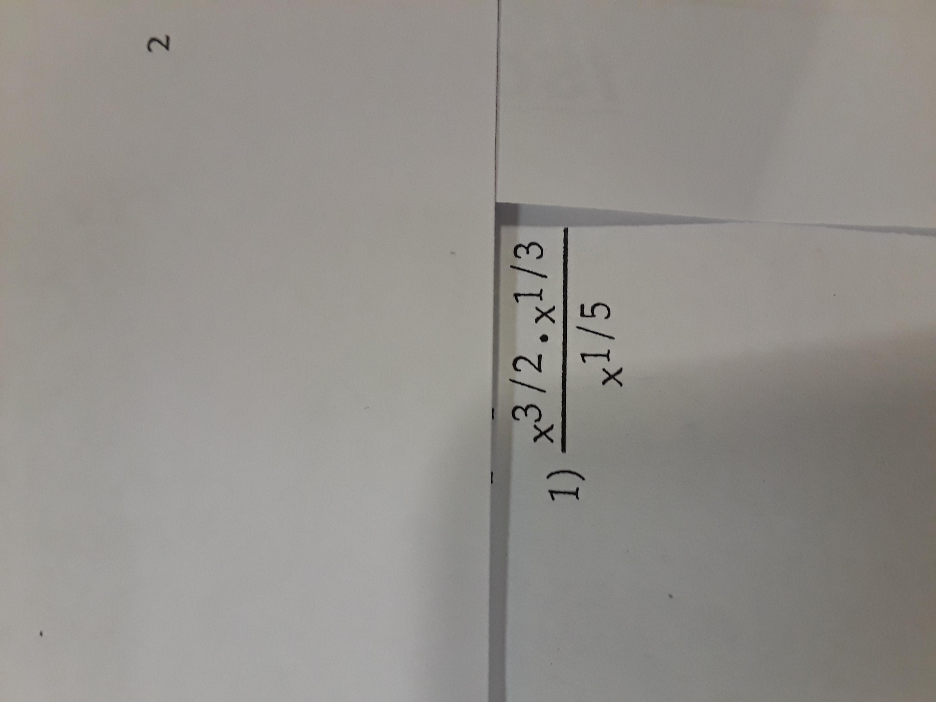 2 x3/2.x1/3 1) x1 /5