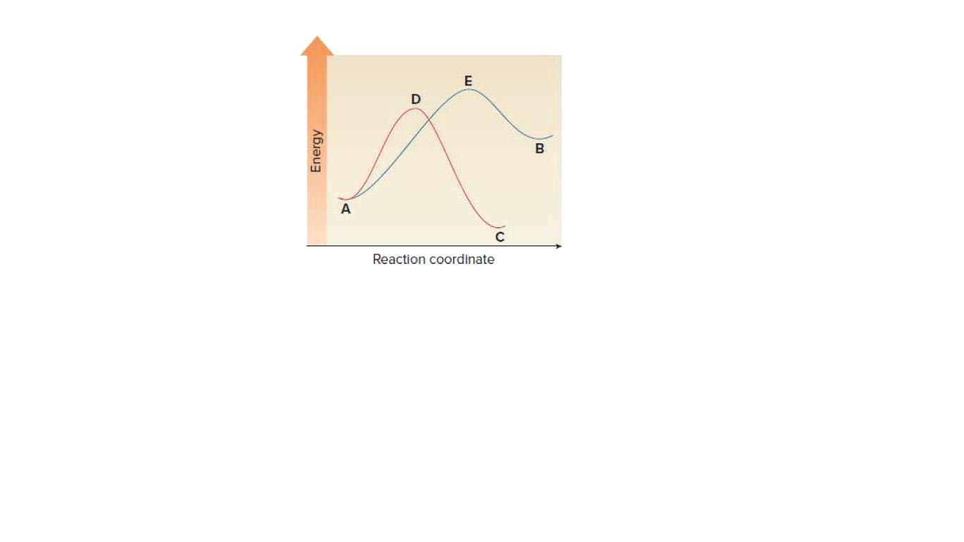 B Reaction coordinate Energy