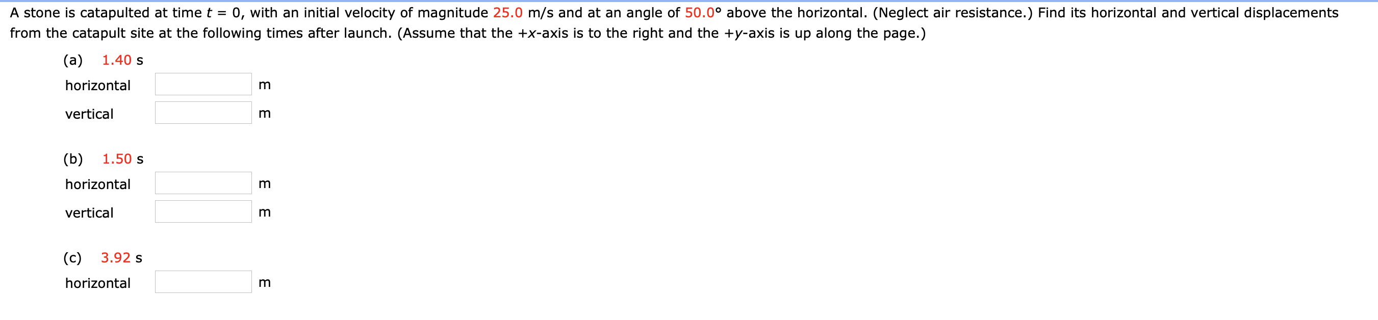 Answered: A stone is catapulted at time t = 0,…   bartleby