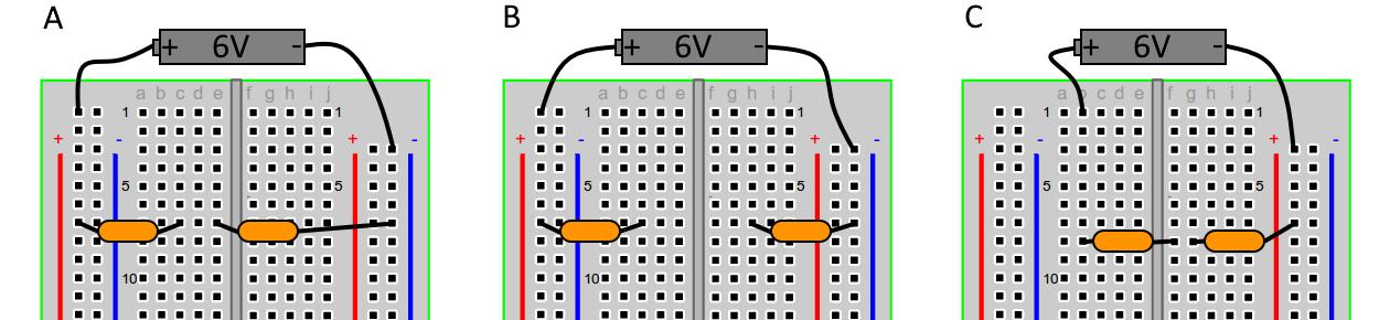 В С А 6V + 6V 6V ac de abcde ghij bcde ghi 1 1 1 10 100 10