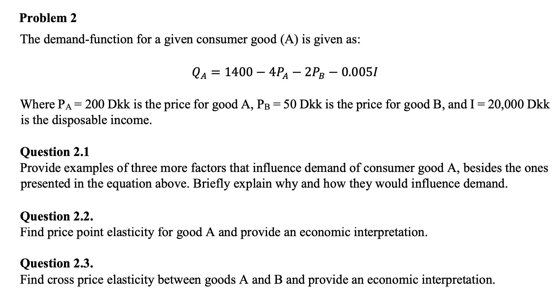 Answered The Demand Function For A Given Bartleby