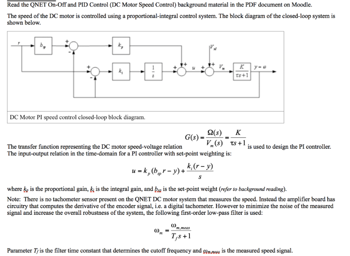 Answered: Read the QNET On-Off and PID Control… | bartlebyBartleby.com