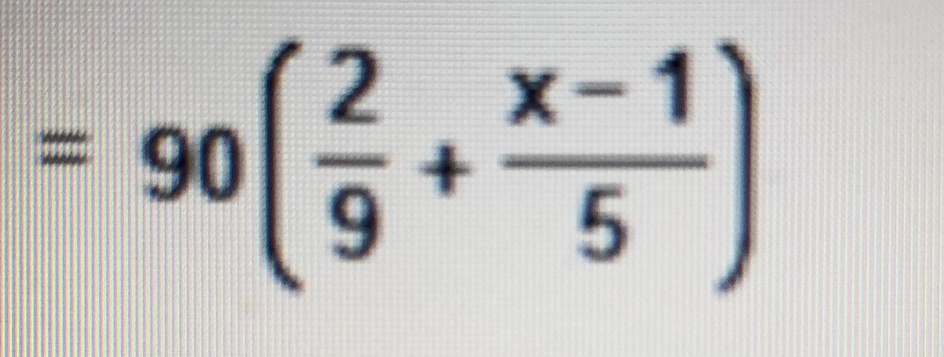 2 X- + 9 90