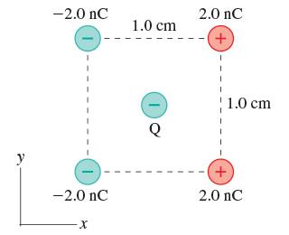 -2.0 nC 2.0 nC 1.0 cm + 1.0 cm y -2.0 nC 2.0 nC X