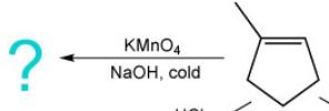 KMNO4 NaOH, cold