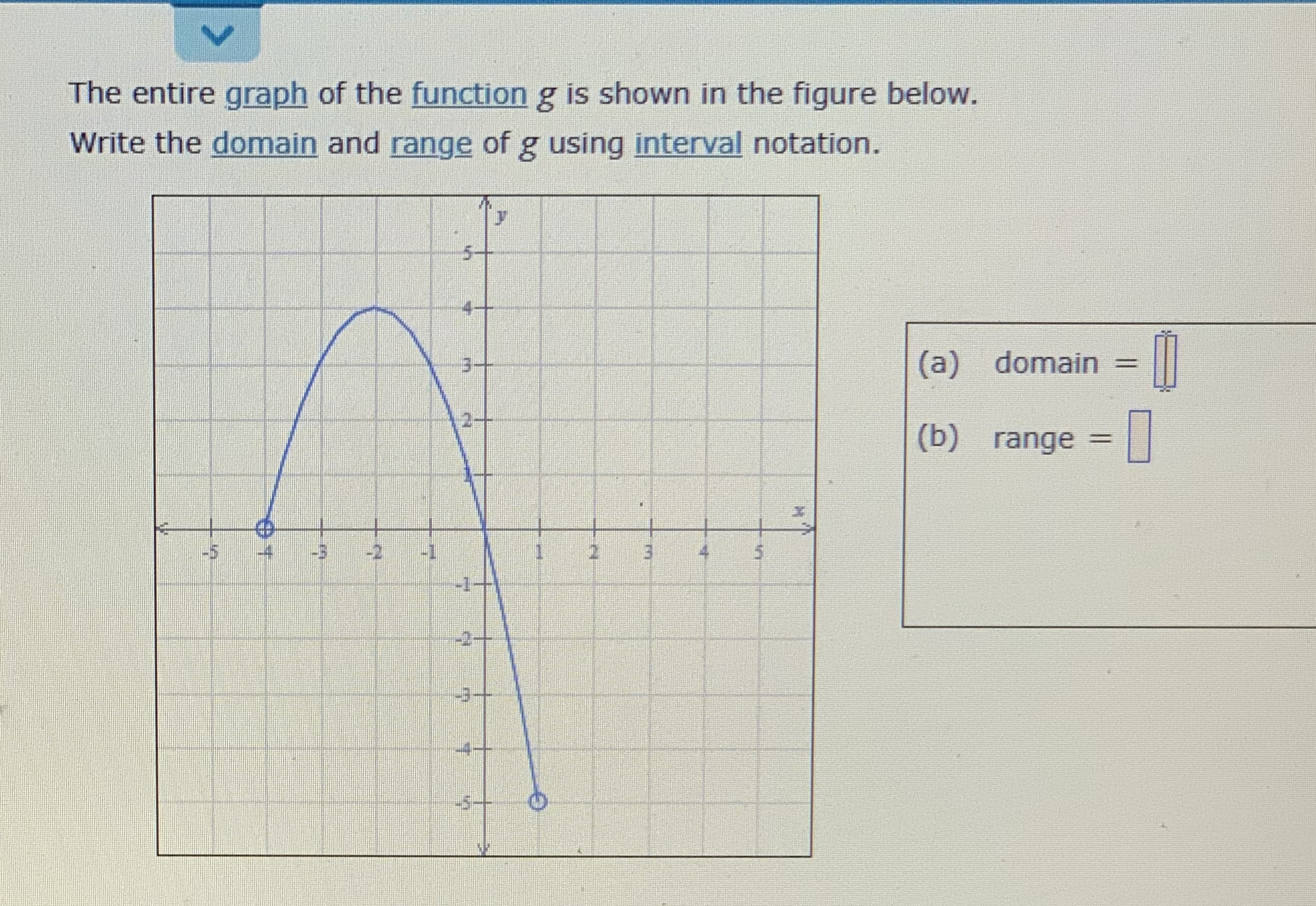 answered the entire graph of the function g is…  bartleby
