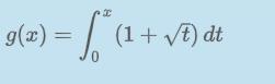 g(x) = [ (1 + vf) dt
