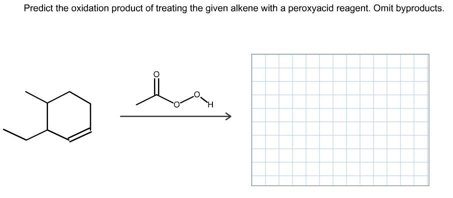 Predict the oxidation product of treating the given alkene with a peroxyacid reagent. Omit byproducts.