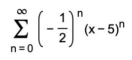 Σ--5 1)η ( x- 5)η 2 n 0