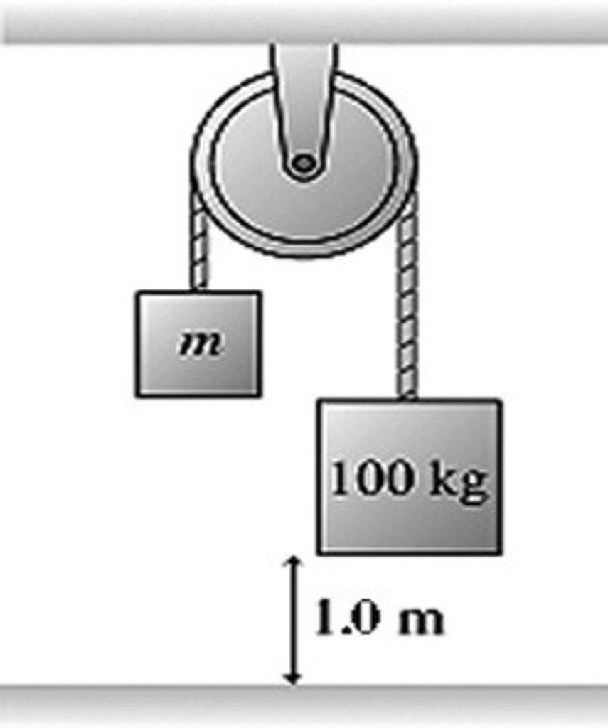 m 100 kg 1.0 m