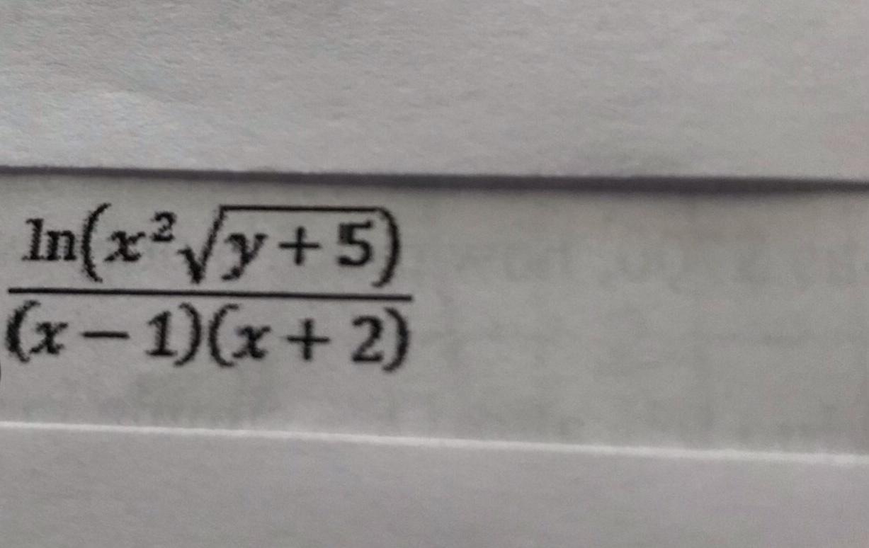 In(x2y+5) (x-1)(x+ 2)