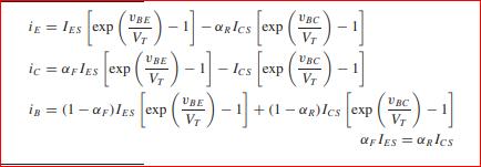 (#)-] ic ic = aples exp V BC is = (1 - a;)lss exp ()- +1 - an)les exp () - af lEs = aRIcs