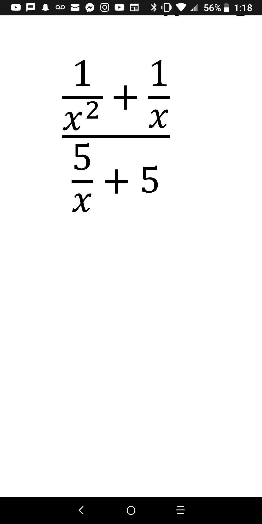 56% 1:18 1 1 + 5 +5 х