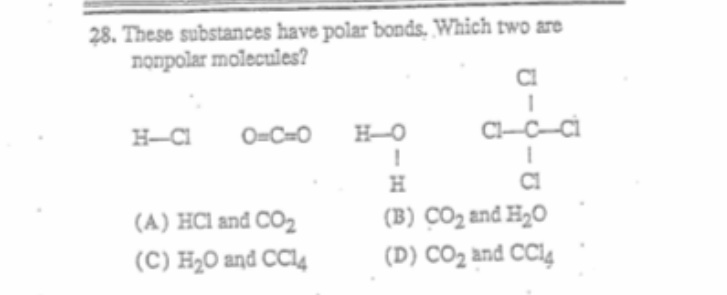 Answered 28 These Substances Have Polar Bonds Bartleby