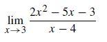 2x2 -5х — 3 х — 4 lim х—3