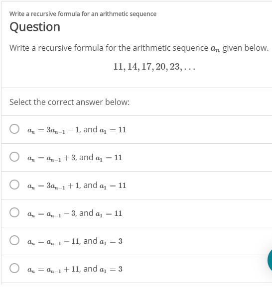 answered write a recursive formula for an…  bartleby