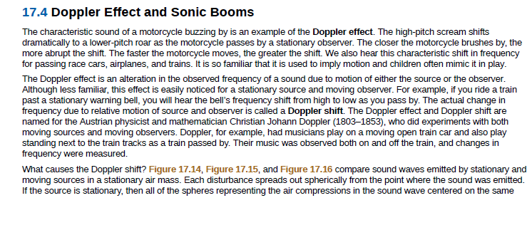 Answered: 17.4 Doppler Effect and Sonic Booms The… | bartleby