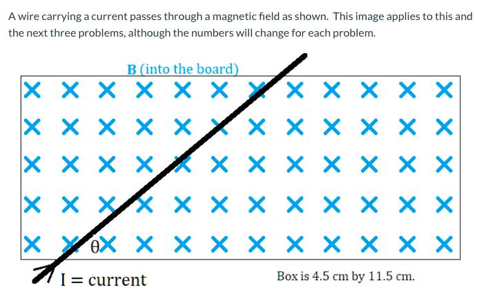 B (into the board) X x x x × × Yx × × × X x x x xk x x × x × × x x x XX X x X X X × × X eX X X X × × X X × X I= current Box is 4.5 cm by 11.5 cm.
