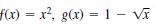f(x) = x, g(x) = 1 - vĩ
