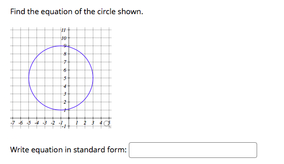 answered find the equation of the circle shown…  bartleby