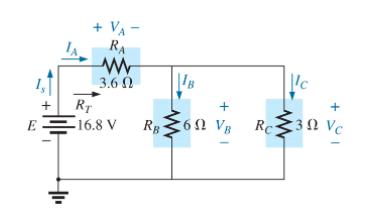 + VA - RA 3.6 0 'c B + RT 61 VB Rc 3N Vc E -16.8 V